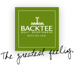 Backtee golf clothes and equipment