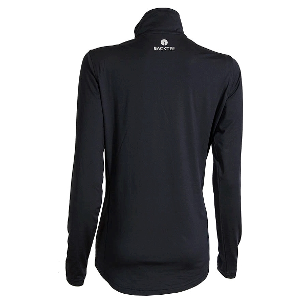 Ladies Zip Neck Baselayer, Black