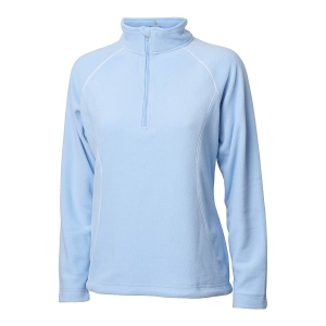 Ladies Zipneck Fleece Jacket, Blue Bell