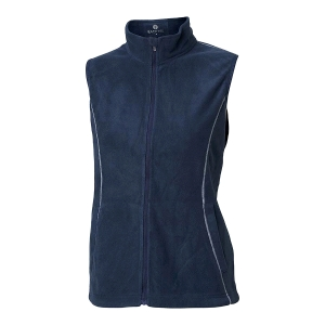 Ladies Zipneck Fleece Vest, Navy