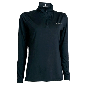 Ladies Zip Neck Baselayer, Navy