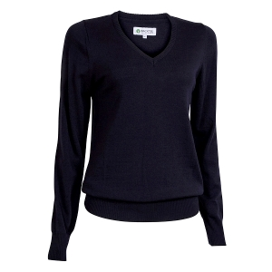 Ladies Solid Pullover, Navy