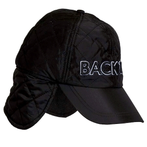 Men Quilted Thermal Cap, Black