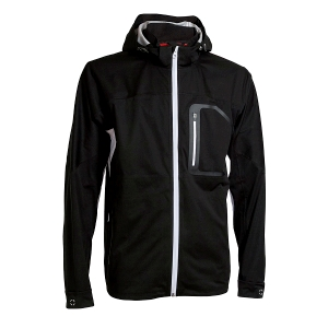 Mens High Performance Rain Jacket, Black