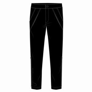 "Mens Ultralight  4Way Stretch Rain Trousers - Long 34"", Black"