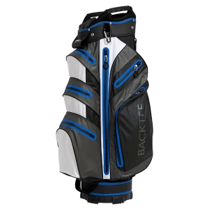Waterproof Golfbag, Grey/White/Blue
